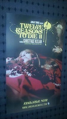 POSTER by GHOSTFACE KILLAH twelve reasons to die for the album cd tour rza promo