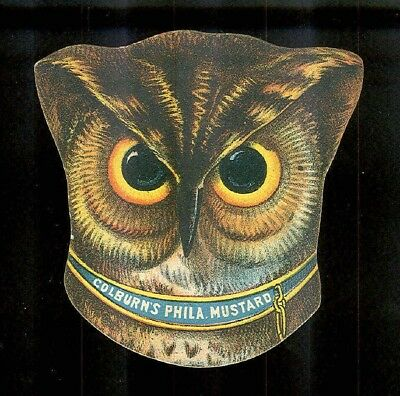 Gorgeous Big Owl Head + Owl Under Moon-2 Victorian Trade Cards