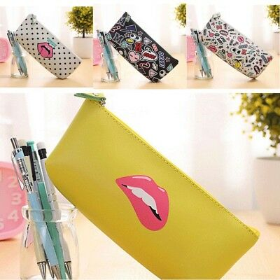 1PCS PU Pencil Case Stationery Office & School Supplies Makeup Bags as Xmas Gift