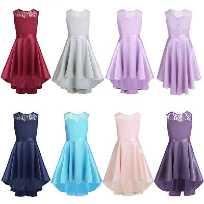 Flower Girl Princess Pageant Wedding Party Formal Birthday Kids Dress Size 4-14