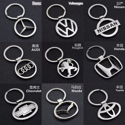 Car Fashion Titanium Key Chain Car Keychain Ring Keyfob Metal Keyrings NEW