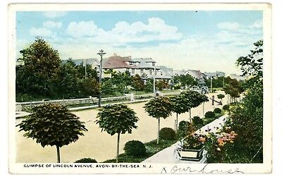 Avon by the sea new jersey sylvan hotel street view antique postcard avon by the sea nj glimpse of lincoln avenue postcard sciox Images