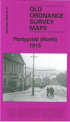 OLD ORDNANCE SURVEY MAP PONTYPRIDD SOUTH 1915 MARITIME COLLIERY COKE WORKS