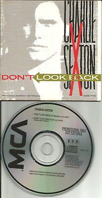 CHARLIE SEXTON Don't look Back 2TRX w/ RARE EDIT PROMO CD single 1989 arc angels