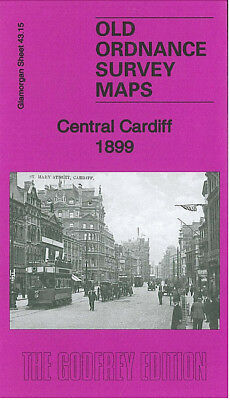 Old Ordnance Survey Map Central Cardiff 1899 Clare Street Windsor Place Newtown