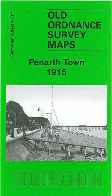 Old Ordnance Survey Map Penarth Town 1915 Dingle Road Halt Alexandra Park