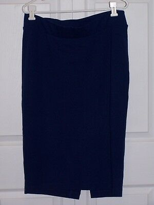 Isabella Oliver Maternity Pencil Skirt In Rich Navy Size 4