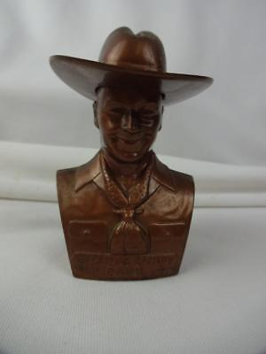 Hopalong Cassidy Copper Plastic Advertising Bank 1st Federal Savings Coffeyville