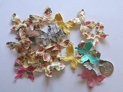 NO 544 Scrapbooking - 20 Small Prima Paper Butterflies - Scrapbook