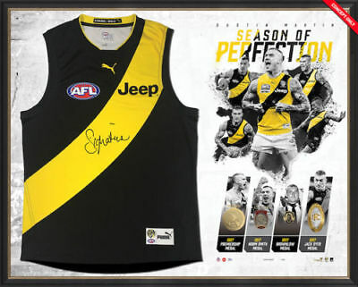 Dustin Martin 2017 Season of Perfection Signed & Framed Guernsey