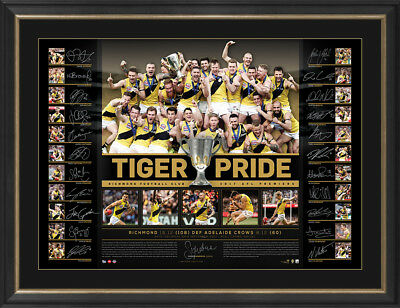 Richmond Tigers 2017 Premiership Team Signed Lithograph Tiger Pride