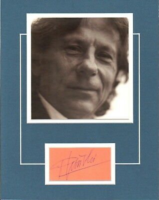 Roman Polanski-Rosemary's Baby-Film Director-Signed Card & Picture Display- Uacc