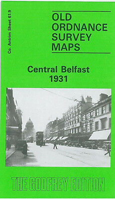Old Ordnance Survey Map Central Belfast 1931 Distillery Street Albert Bridge