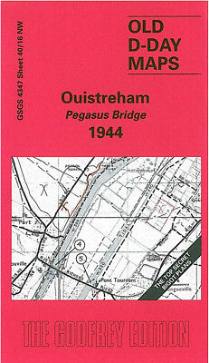 Old D-Day Map Ouistreham - Pegasus Bridge 1944