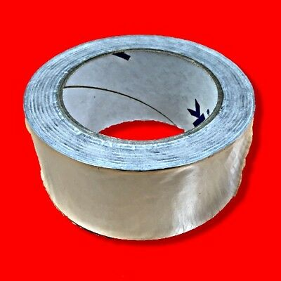 Genuine Uk Made Bostik 50Mm X 50M Aluminium Foil Insulation Tape Self Adhesive