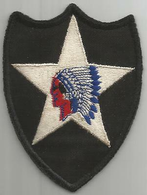 WW 2 US Army 2nd Infantry Division Twill Patch Inv# H862
