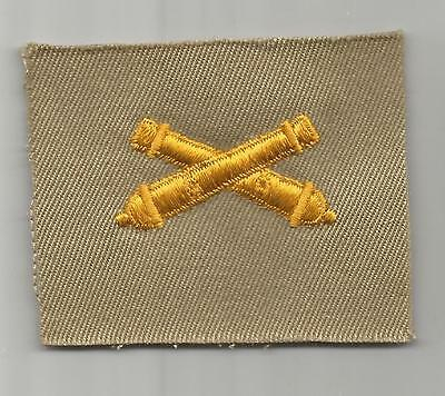 WW 2 Cloth Officers Collar Artillery Corps Insignia Inv# OQ077