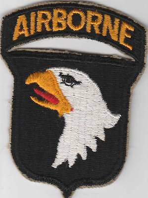 WW 2 US Army 101st Airborne Division Patch Attached Tab Inv# JQ383