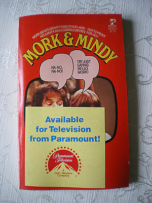 MORK & MINDY (MORK VOM ORK) Video Novel Fotoroman TB 1979 Englisch TOP Anobile