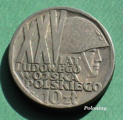 OLD COIN OF POLAND - 25th ANNIVERSARY OF PEOPLE'S POLISH ARMY (LWP) 1968