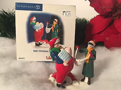 New Department 56 Dad's Christmas Tradition #55415 Christmas Lane Accessory