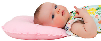 Anti-Pressure Butterfly Baby Head Support Pillow Prevent Flathead Soft Pink