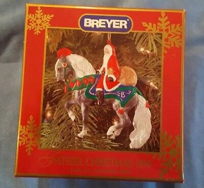 BREYER FATHER CHRISTMAS ORNAMENT 1999 NEW  - 1st in series