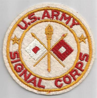 """WW 2 US Army Signal Corps 4"""" Wool Jacket Patch Inv# TH329"""