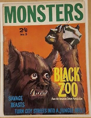 Monsters # 3  (1963 - Black Zoo - Charlton Publications Magazine - Vg- Scarce )