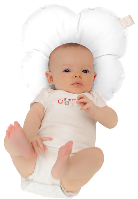 Anti-Pressure Baby Head Support Pillow Prevent Flathead White.  Made In England.