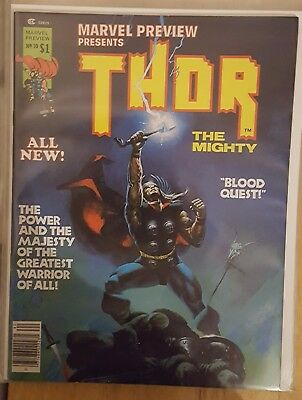 Thor The Mighty # 10  ( 1977 - Marvel Preview Magazine - Vfn-  )