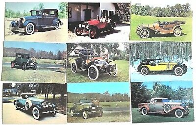 T9213    Auto  Museum   Postcard Lot,    9   Dif.   Cards