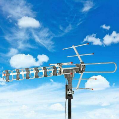 180 Miles 1080P Outdoor Amplified HD TV Antenna Long Range 360 Ratator Digital
