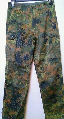 Genuine German Army Flecktarn Camo Trousers BW size Medium-Long Combat US Seller