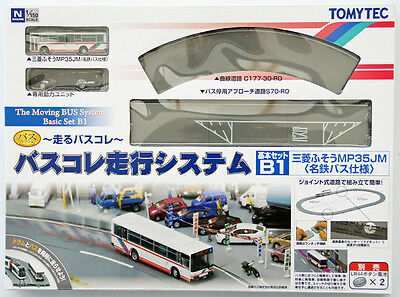 Tomytec Moving Bus System Basic Set B1 (Red Bus) 1/150 N scale