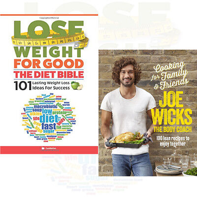 Cooking for Family and Friends 2 Books Collection Set Lose Weight For Good New