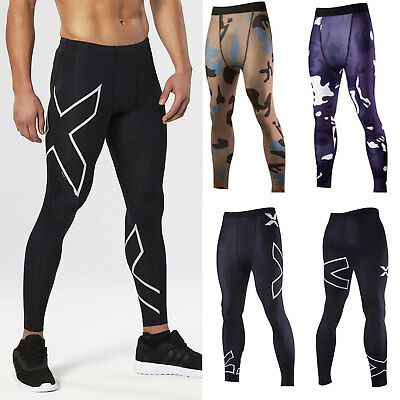 Men Sports Running Skin Tights Compression Base Layer Underwear Gym Long Pants