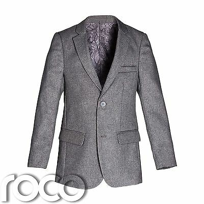 Boys Blazer, Grey Suit Jacket, Boys Formal Wear, Boys Jacket