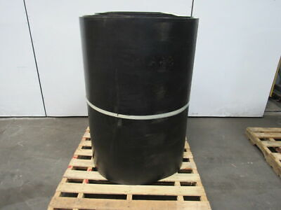 "1/2"" Thick 3-Ply Heavy Duty Black Smooth Rubber Conveyor Belt 132'L x 48""W"
