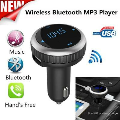 Wireless Bluetooth LCD FM Transmitter Modulator Double USB Car Kit MP3 Player