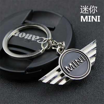 Mouse over image to zoom Mini-Cooper-Car-Key-Ring-Chain-Titanium-Badge-Keychain