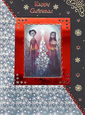 Lovely Unusual Handmade Corpse Bride Gothic Christmas Card~Tim Burton~