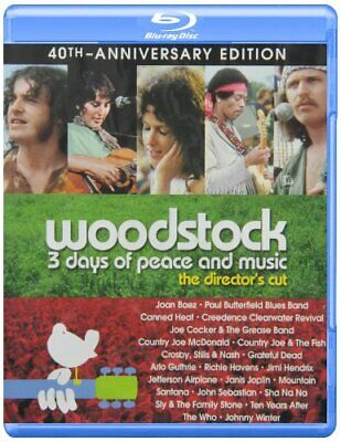 Woodstock: 3 Days of Peace and Music (40th Anniversary Edition) [Blu-ray] NEW!