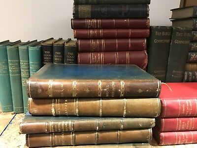 Vintage Lot of 3 Feet Of Books Leather / Linen Decorator Set MIXED LOT UNSORTED