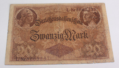 German Reich Empire 20 Mark 1914 Ro. 49b more used used
