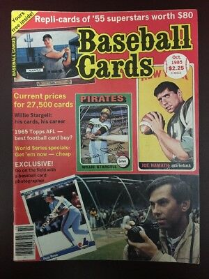 Baseball Cards Magazine October 1985 Mickey Mantle, Joe Namath, Pete Rose