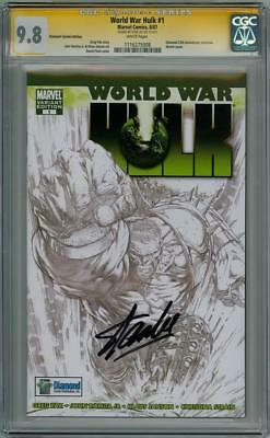 World War Hulk #1 Diamond Cgc 9.8 Signature Series Signed Stan Lee Thor Movie