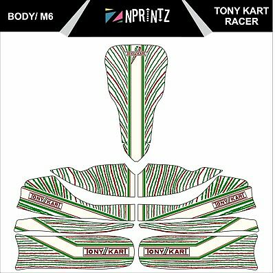 M6 Tonykart Racer 401 Style 2015 Full Kart Sticker Kit To Fit M6 Body - Karting