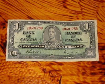 1937 Bank of Canada $1 Banknote Bank Note 1 Dollar