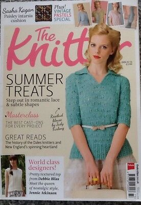 THE KNITTER MAGAZINE Issue 73 Sasha Kagan Cushion Pattern